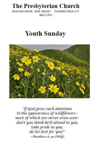 Church Youth Sunday Bulletin Covers