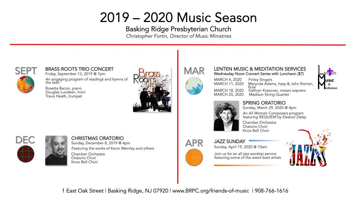 BRPC 2019-20 Music Season