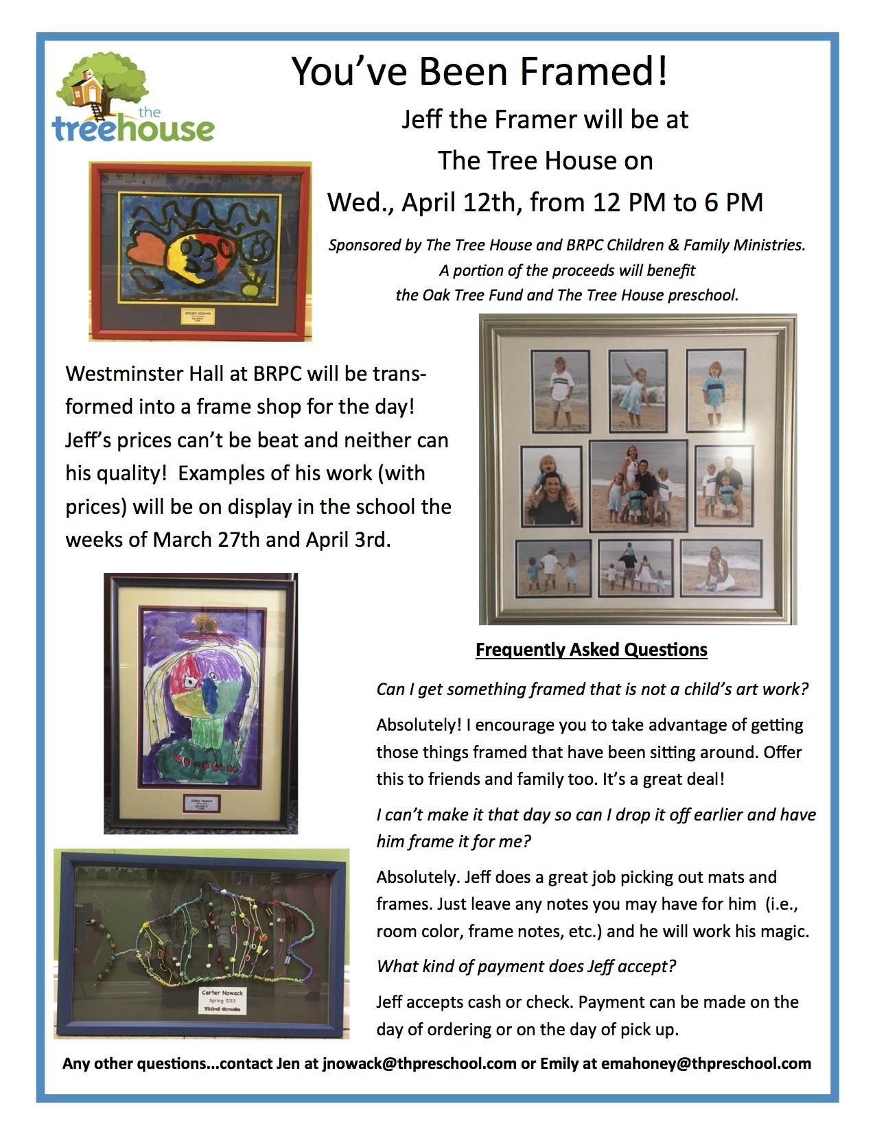 You\'ve Been Framed! (Get your Art Framed and Support Oak Tree Fund ...